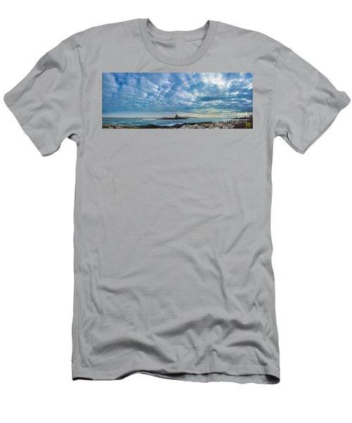 Ram Island Light Men's T-Shirt (Slim Fit) by Alana Ranney