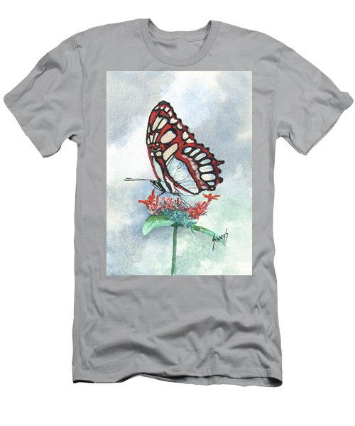 Men's T-Shirt (Athletic Fit) featuring the painting Red by Sam Sidders