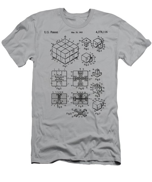 rubik's cube Patent 1983 Men's T-Shirt (Athletic Fit)