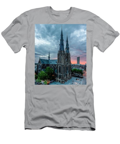 Saint Catherina Church In Eindhoven Men's T-Shirt (Slim Fit) by Semmick Photo