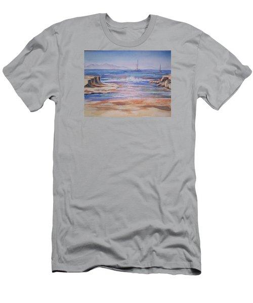 Santa Cruz Men's T-Shirt (Slim Fit) by Becky Chappell