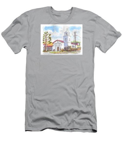 Santa Cruz Mission, Santa Cruz, California Men's T-Shirt (Slim Fit) by Carlos G Groppa