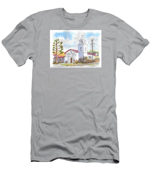 Santa Cruz Mission, Santa Cruz, California Men's T-Shirt (Athletic Fit)