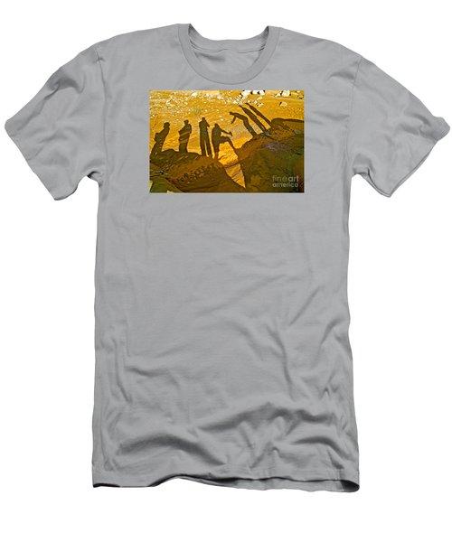 Self Portrait  Men's T-Shirt (Slim Fit) by Michael Cinnamond