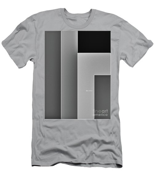 Men's T-Shirt (Athletic Fit) featuring the digital art Shades Of Grey by Rafael Salazar