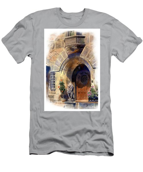 Men's T-Shirt (Athletic Fit) featuring the painting Shaker Heights by Andrew King