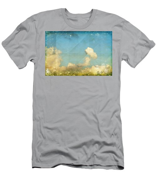 Sky And Cloud On Old Grunge Paper Men's T-Shirt (Athletic Fit)