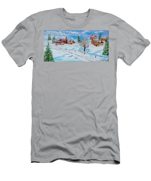 Winter Hamlet Men's T-Shirt (Slim Fit) by Mike Caitham