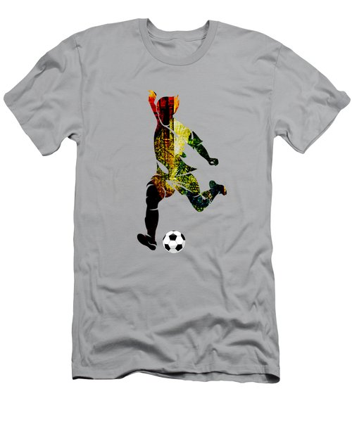 Soccer Collection Men's T-Shirt (Slim Fit) by Marvin Blaine