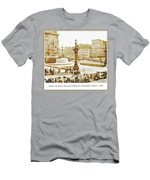 Soldiers' And Sailors' Monument Dedication, Indianapolis, Indian Men's T-Shirt (Slim Fit) by A Gurmankin