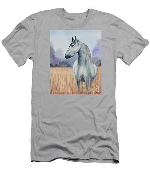 Men's T-Shirt (Slim Fit) featuring the painting Solemn Spirit by Stacey Zimmerman