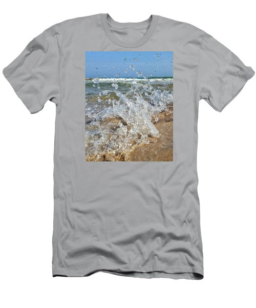 Men's T-Shirt (Slim Fit) featuring the photograph Splash by Nikki McInnes