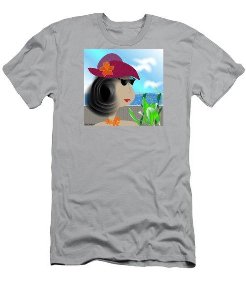 Summer,  I'm Ready Men's T-Shirt (Slim Fit) by Iris Gelbart