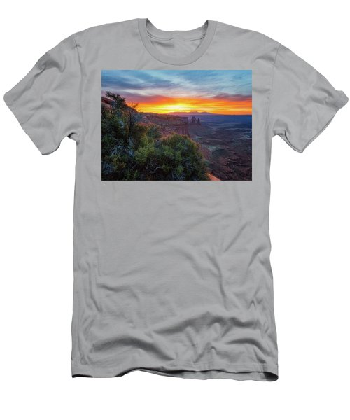 Men's T-Shirt (Athletic Fit) featuring the photograph Sunrise Over Canyonlands by Darren White