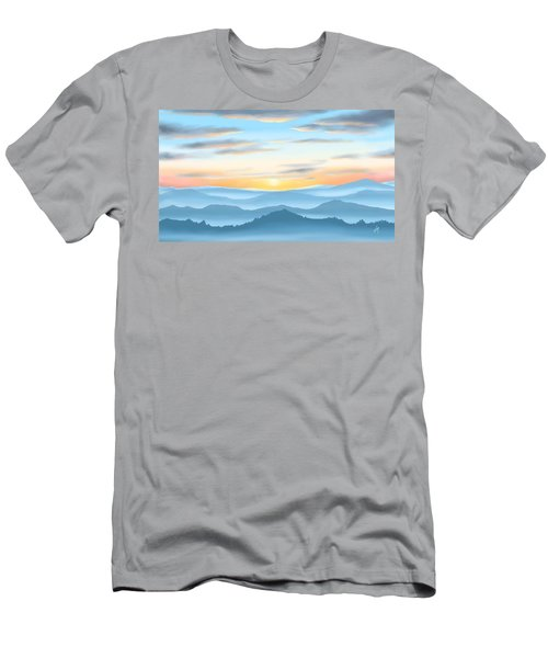 Men's T-Shirt (Slim Fit) featuring the painting Sunrise by Veronica Minozzi