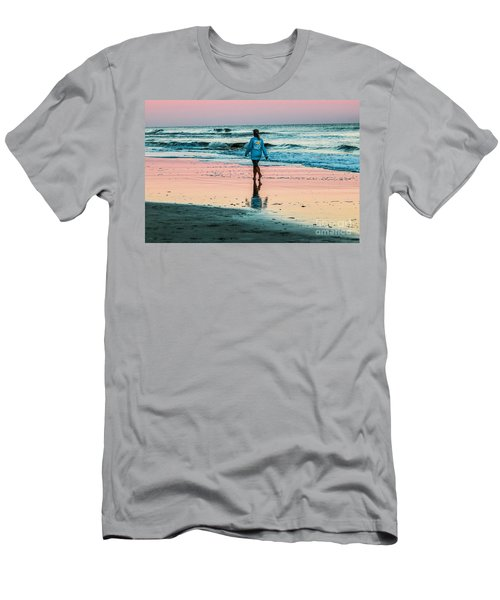Sunset Stroll In The Surf Hilton Head Men's T-Shirt (Athletic Fit)
