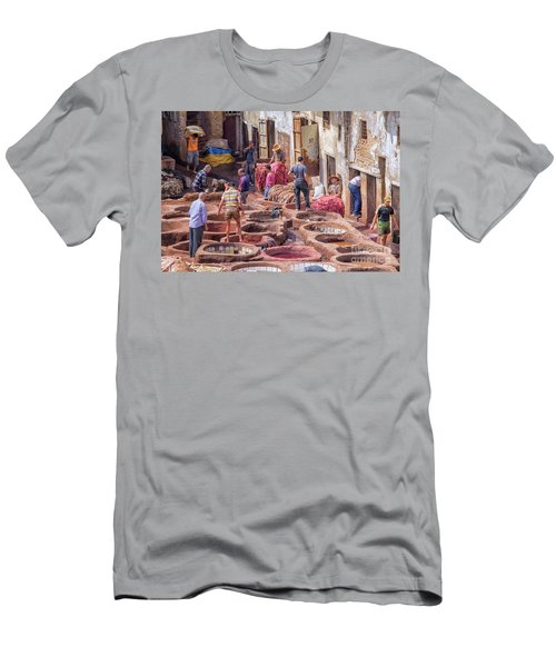 Tannery In Fez Men's T-Shirt (Slim Fit) by Patricia Hofmeester