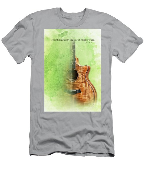 Taylor Inspirational Quote, Acoustic Guitar Original Abstract Art Men's T-Shirt (Slim Fit) by Pablo Franchi