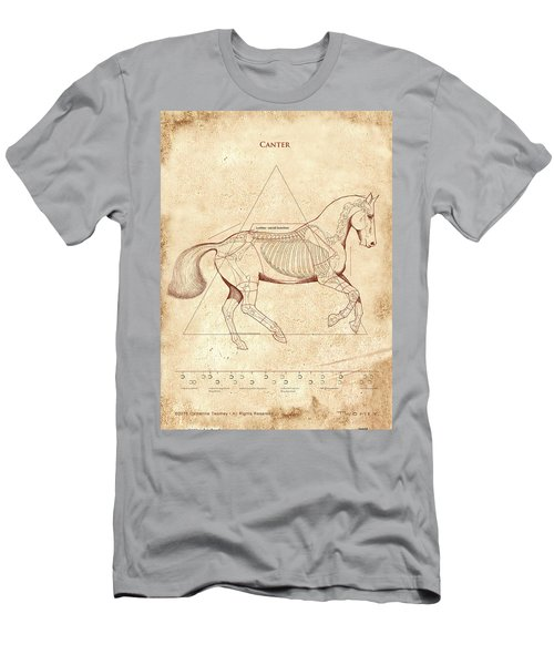 The Horse's Canter Revealed Men's T-Shirt (Slim Fit) by Catherine Twomey