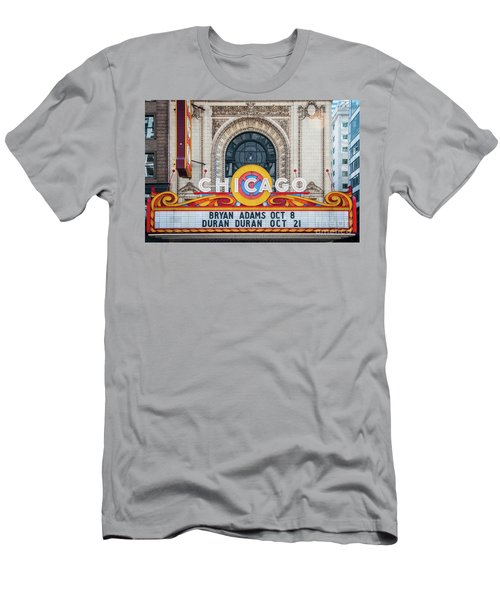 The Iconic Chicago Theater Sign Men's T-Shirt (Athletic Fit)