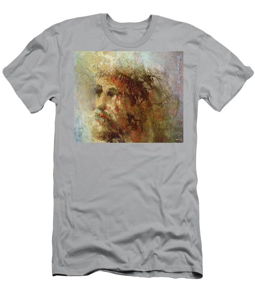 Men's T-Shirt (Athletic Fit) featuring the painting The Lamb by Andrew King
