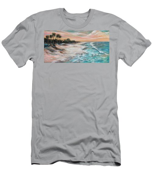 Tropical Shore Men's T-Shirt (Athletic Fit)