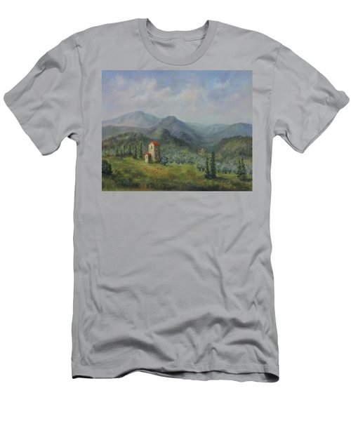 Tuscany Italy Olive Groves Men's T-Shirt (Athletic Fit)