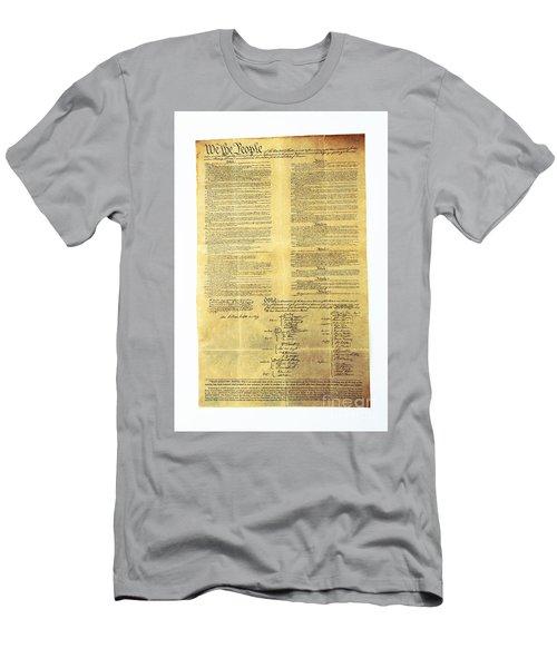 U.s Constitution Men's T-Shirt (Athletic Fit)