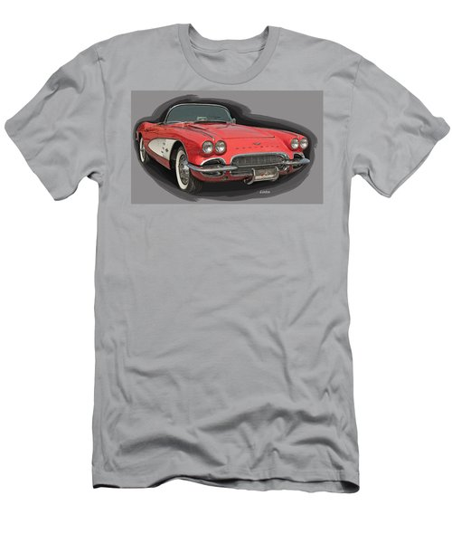 Men's T-Shirt (Athletic Fit) featuring the digital art Vette by Larry Linton