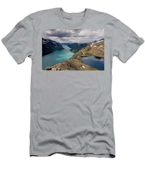 View From Besseggen Ridge Men's T-Shirt (Athletic Fit)
