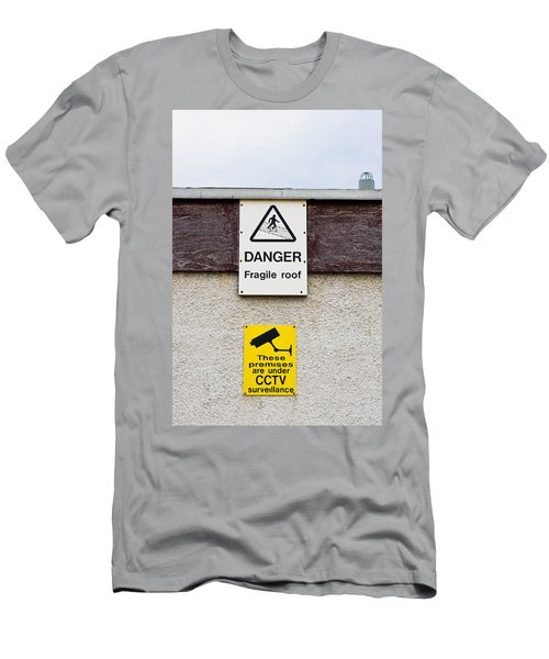 Warning Signs Men's T-Shirt (Athletic Fit)