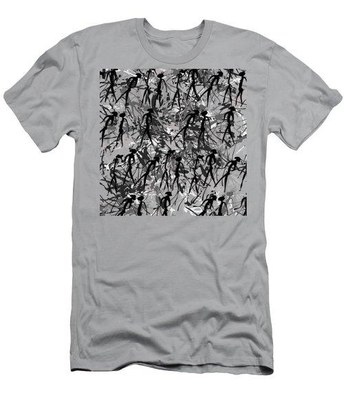 Warriors - Primitive Art Men's T-Shirt (Slim Fit) by Michal Boubin