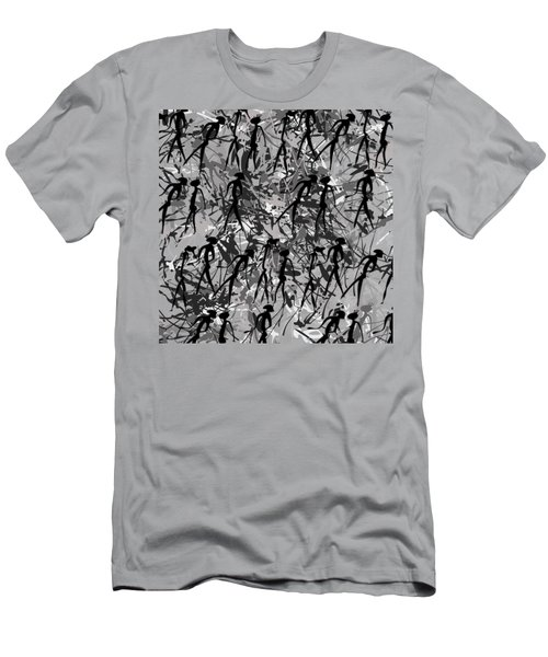 Warriors - Primitive Art Men's T-Shirt (Athletic Fit)