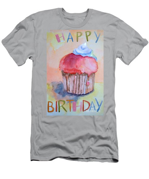 Watercolor Illustration Of Cake  Men's T-Shirt (Athletic Fit)