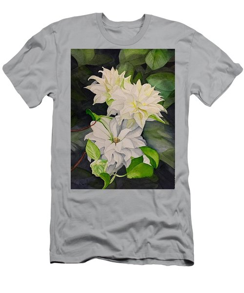 White Clematis  Men's T-Shirt (Athletic Fit)