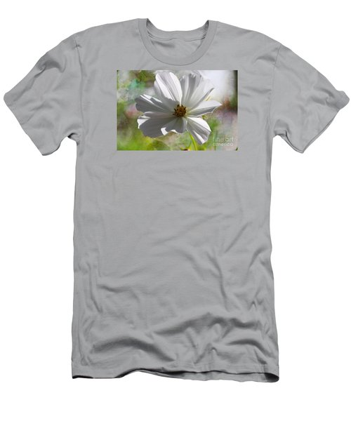 Men's T-Shirt (Slim Fit) featuring the photograph White Cosmos by Yumi Johnson
