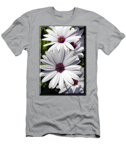 White Flower T-shirt Men's T-Shirt (Athletic Fit)