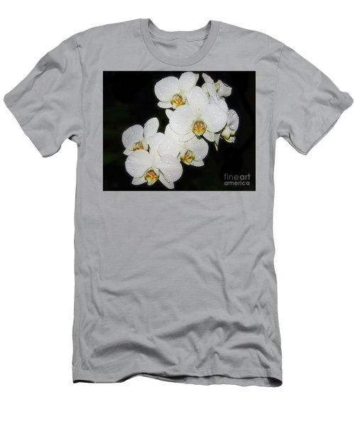 Men's T-Shirt (Slim Fit) featuring the photograph White Orchid by Elvira Ladocki