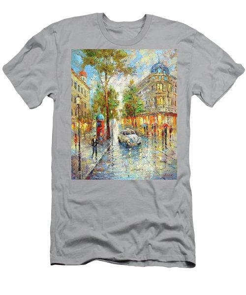 White Taxi Men's T-Shirt (Slim Fit)