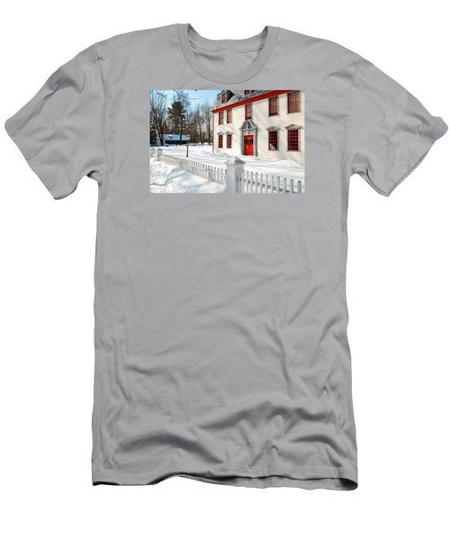 Winter In The Country Men's T-Shirt (Slim Fit) by James Kirkikis