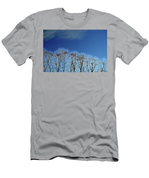 Winter Trees And Sky 3  Men's T-Shirt (Slim Fit)