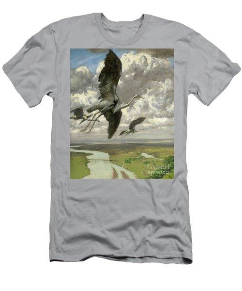Wondrous Birds Men's T-Shirt (Athletic Fit)