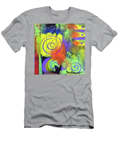 Yellow Abstract Men's T-Shirt (Athletic Fit)