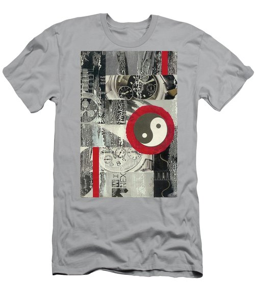 Men's T-Shirt (Slim Fit) featuring the mixed media Ying Yang by Desiree Paquette