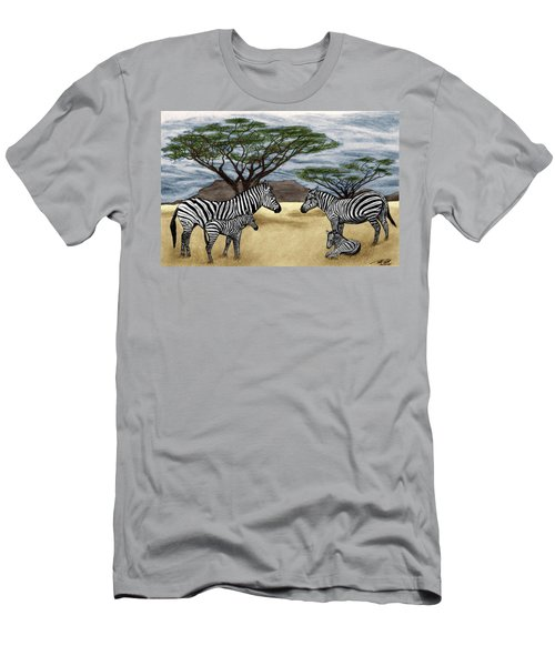 Zebra African Outback  Men's T-Shirt (Athletic Fit)
