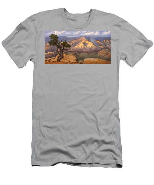 Zoroaster Temple From Yaki Point Men's T-Shirt (Slim Fit) by Paul Krapf