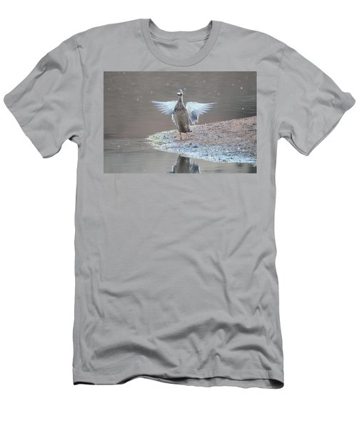 Men's T-Shirt (Athletic Fit) featuring the photograph Mallard Duck Burgess Res Divide Co by Margarethe Binkley