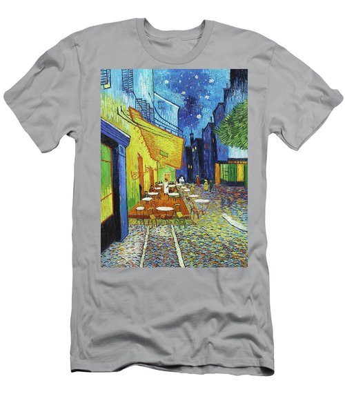 Cafe Terrace At Night Men's T-Shirt (Athletic Fit)