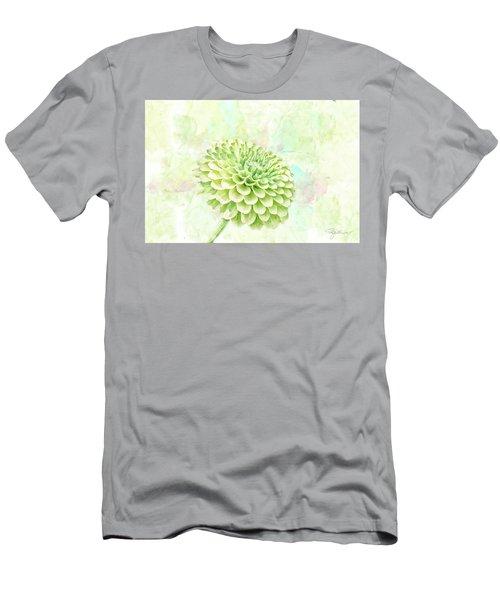10891 Green Chrysanthemum Men's T-Shirt (Slim Fit) by Pamela Williams