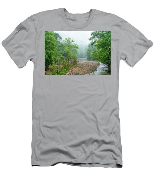 Men's T-Shirt (Slim Fit) featuring the photograph Williams River Summer Mist by Thomas R Fletcher